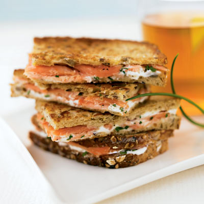 Smoked Salmon And Cream Cheese Breakwiches Sandwich Recipes My Recipes